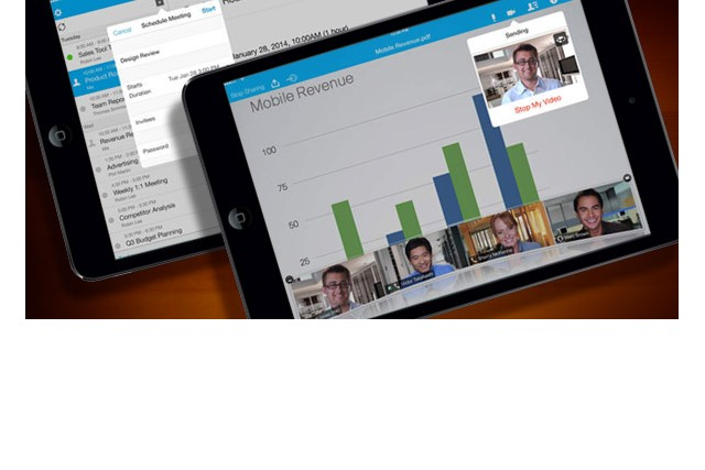 Apple iPad Cisco WebEx App